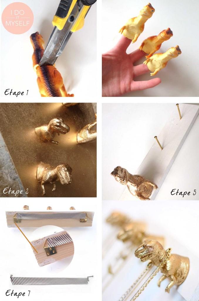 DIY porte collier