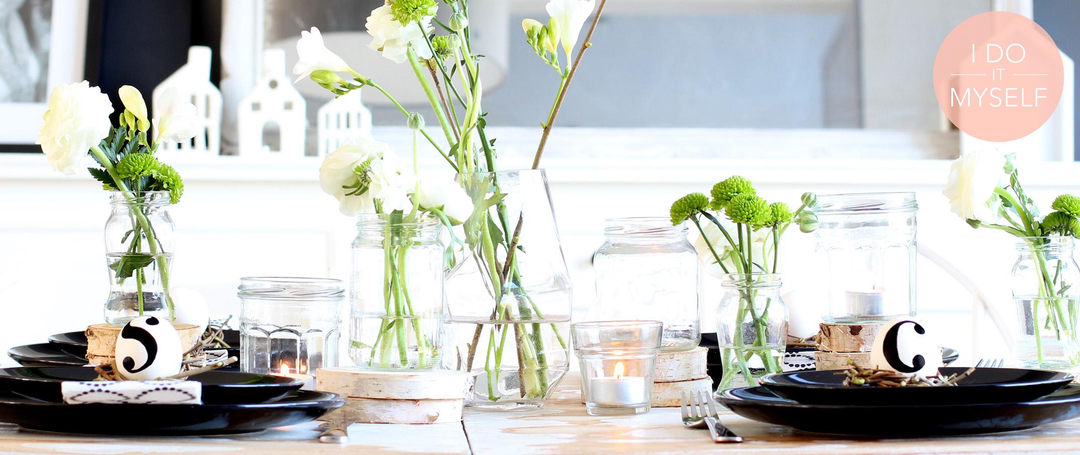 DIY 28 : Table de paques black & white