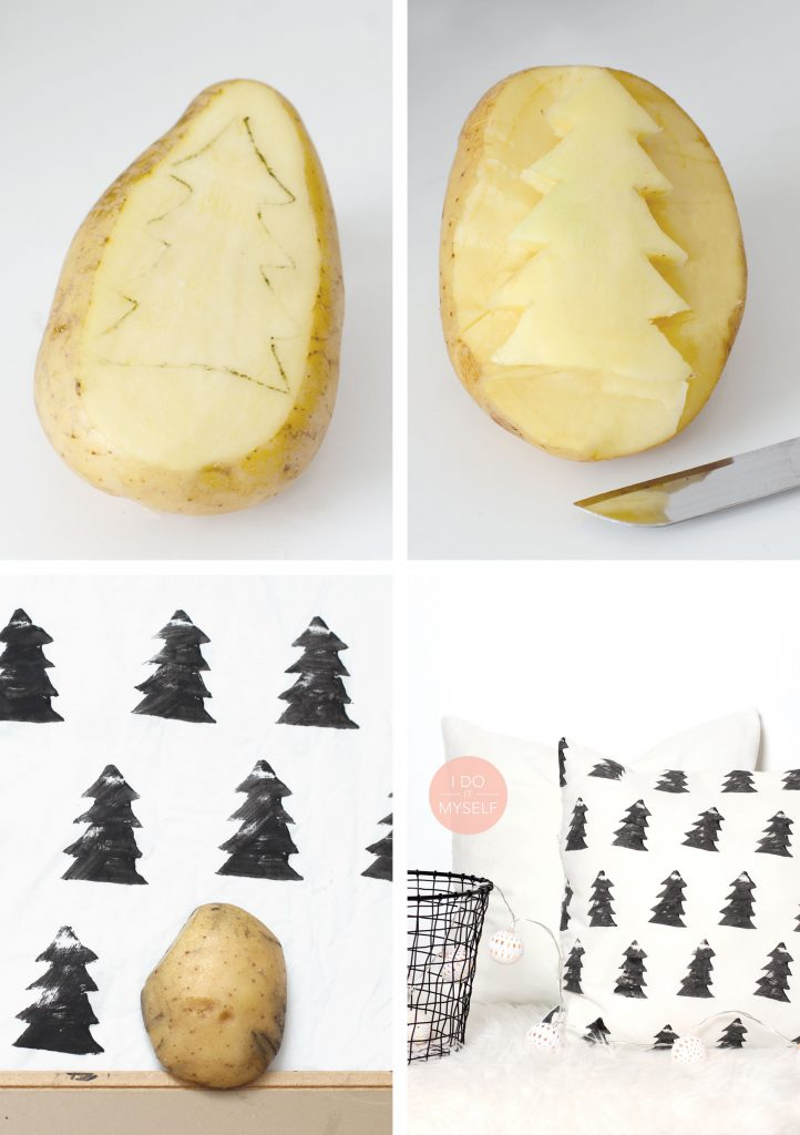 Black and white tree pillows