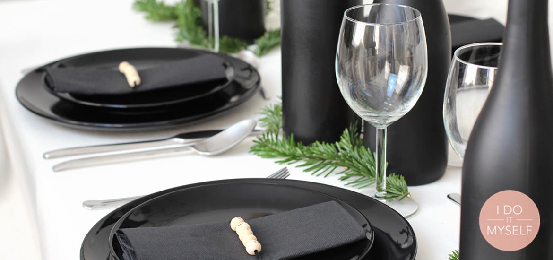 DIY 46 – Table de Noël noire et bois