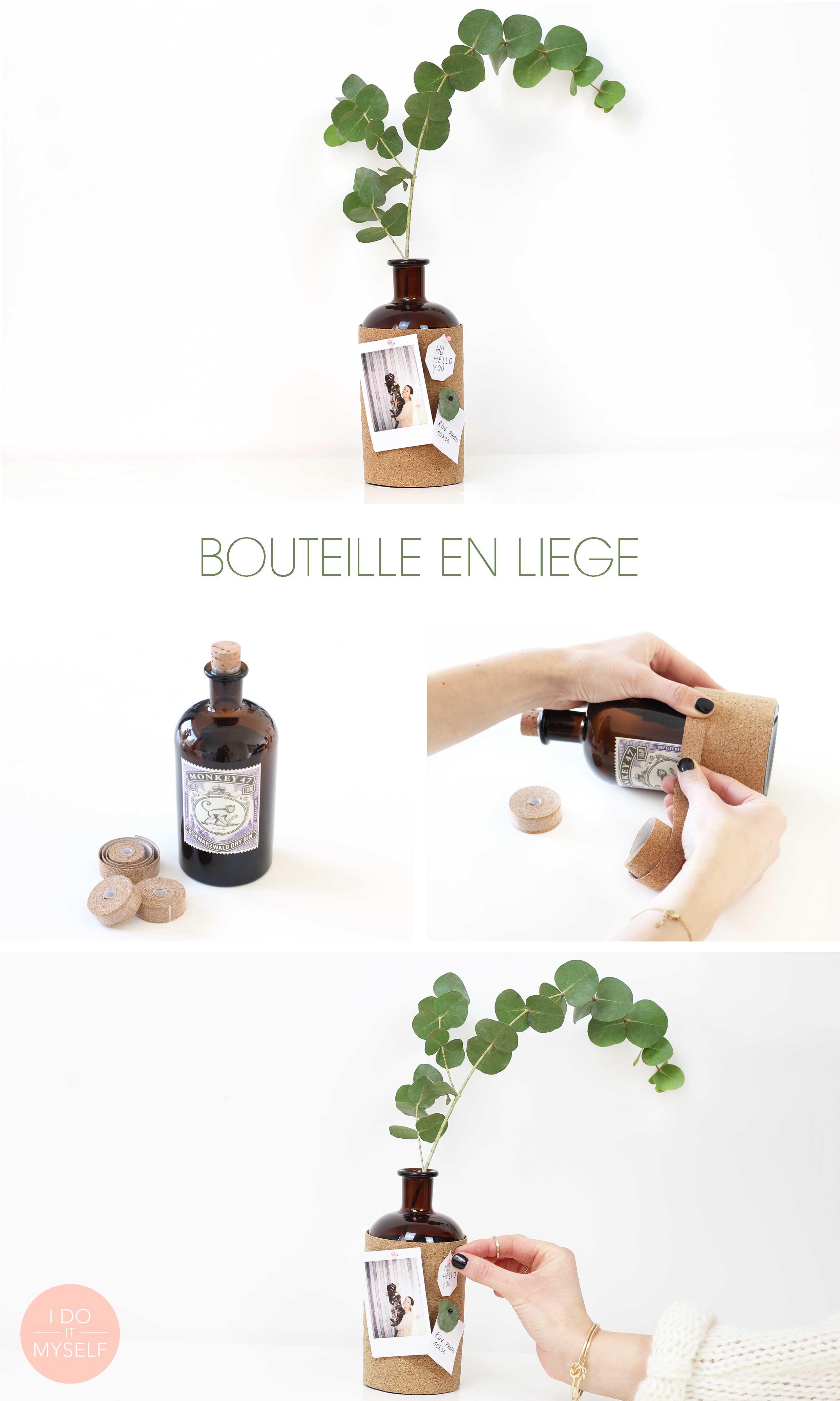 DIY bouteille mémo en liège