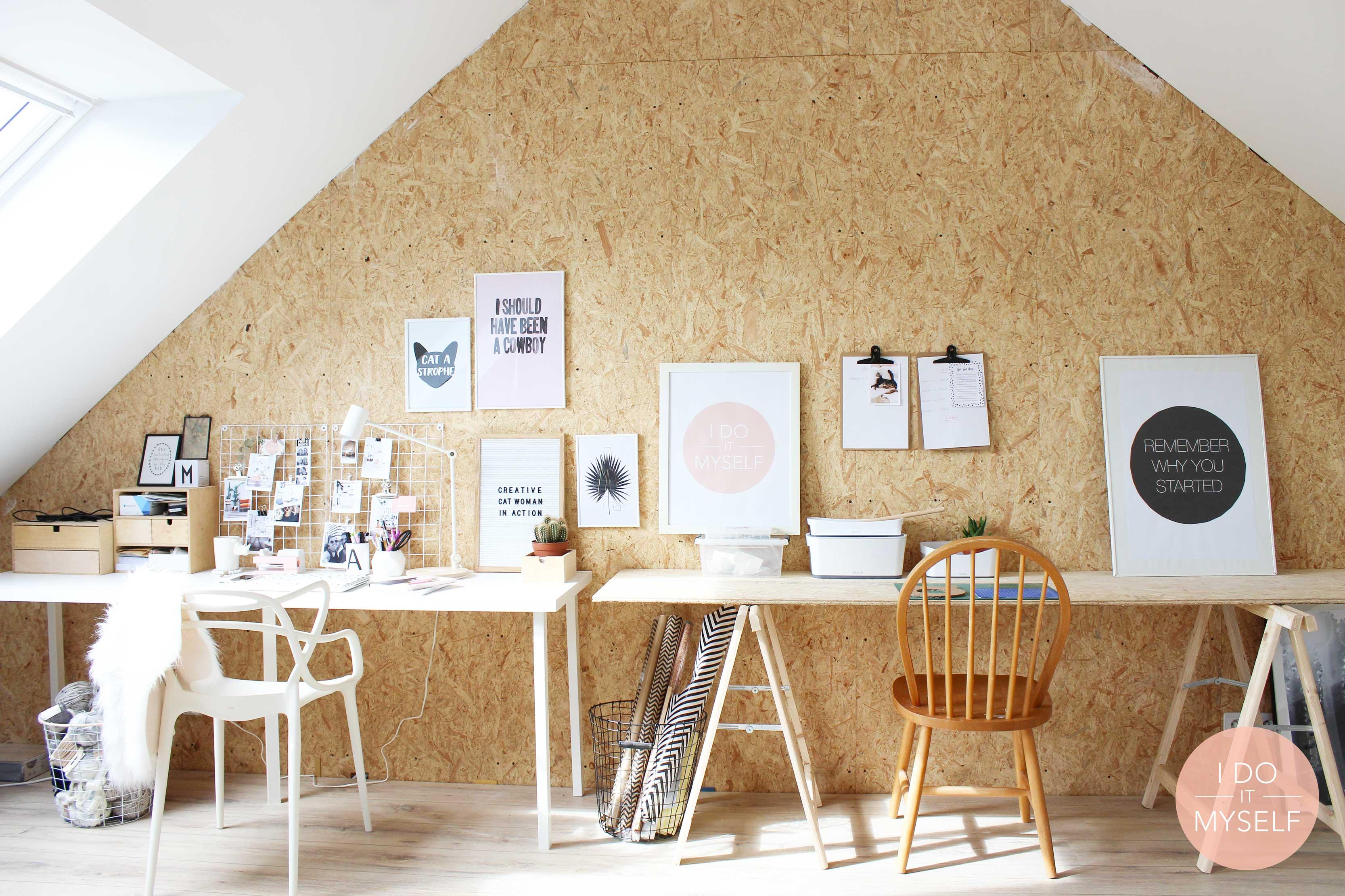 Wooden workspace