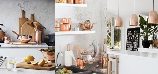 Inspiration : articles déco rose gold pour une cuisine design